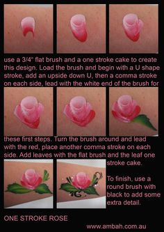 Step-By-Step Flowers Using Mini Split Cakes—Face Painting Tips Shop