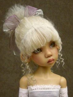 OOAK Mohair Wigs for MSD by Monica Spicer New Dolls, Ooak Dolls, Girl Dolls, Barbie Dolls, Fairy Hair, Polymer Clay Dolls, Isabelle, Doll Costume, Doll Hair