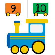 Make a train like this and cut it up. give students pieces and put it back together as a large group activity