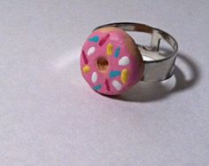 Donut Clay Ring by TheChicGeekOutlet on Etsy