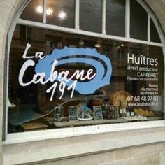 cabane à huîtres: La Cabane 191. 191, rue Fondaudège. Tél : 07 68 48 97 03 •