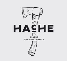 LA HACHE - IDENTITY by Drach P. Claude, via Behance