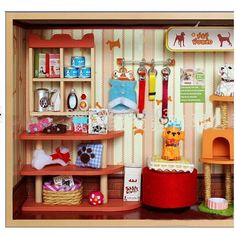 Pet Shop Mundial DIY Dollhouse Miniture Muñecas muebles de la casa de madera de la casa modelo de construcción Juegos Para Adultos Niño Envío Gratis