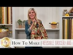How to Make a Reusable Grocery Bag with Jennifer from Shabby Fabrics. Diy Sewing Projects, Sewing Tutorials, Bag Tutorials, Quilting Tutorials, Sewing Tips, Quilting Designs, Sewing Ideas, Sewing Crafts, Youtube Sewing