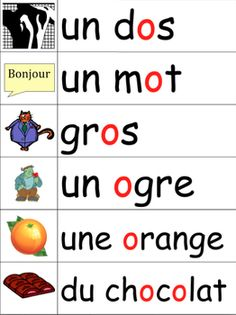 Les sons français en images - French phonics illustrated w Illustrated Words, Phonics Words, Grande Section, French Classroom, French Resources, Short Vowels, French Immersion, French Words, French Lessons