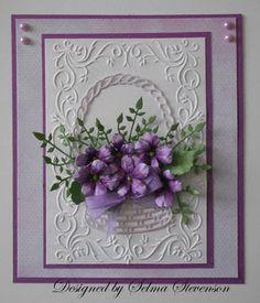 5/12/13.  Selma's Stamping Corner and Floral Designs: Susan's Garden Violets