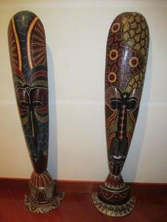 mascaras africanas para piso