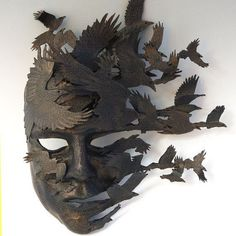 """Raven came but there was no message only the dead to feast on . the mask of life stripped in death Neil G Vol du Corbeau: Art of Mask"" Raven Mask, Leather Mask, Cool Masks, Venetian Masks, Masks Art, Mask Making, Art Plastique, Mask Design, Design Art"