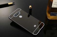 Case For LG G5 Luxury Gold Plating Aluminum Metal Frame+Mirror Acrylic Back Case For LG G2 3 4 For LG K5 Q6 K10/M2 K7 Q7