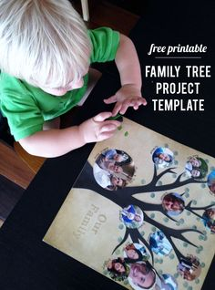 My kids loved helping me make our family tree with this easy template.: