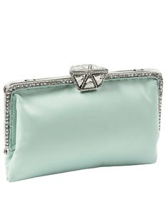 New Tiffany Deco Mint Clutch by Clara Kasavina Clutch Purse, Purse Wallet, Coin Purse, Azul Tiffany, Tiffany Blue, Vintage Purses, Turquoise, Green Fashion, Rilakkuma