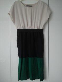 Zara Colourblock Blue Green Kleid Pippa Middelton, Gr.M, 55% Viskose, Neu | eBay