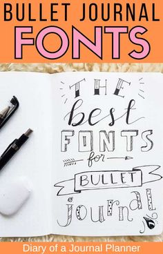 The greatest bullet journal fonts you need to try out! Find easy cursive, hand lettering ideas, simple calligraphy and more. #bulletjournalfonts #fonts #bulletjournal #bulletjournalideas #bujo