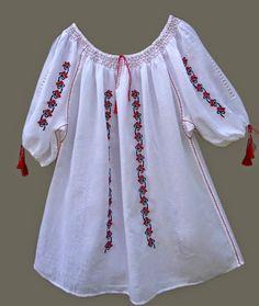 Folk Embroidery Tutorial Ie Oana Brezu iulie Hand Embroidery Flowers, Folk Embroidery, Learn Embroidery, Embroidery Patterns, Embroidery Techniques, Baby Dress, Balochi Dress, Traditional Outfits, Dressmaking