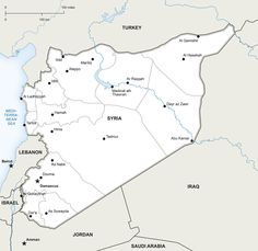 Free political vector map of Syria