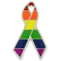 Gay Pride Awareness Ribbon Pin | Awareness Pins | PinMart | PinMart