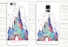 Cinderella's Castle Watercolor Phone Case, Disney iPhone Case