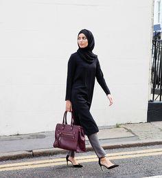 Black Crepe Midi Dress - £44.99 : Inayah, Islamic Clothing & Fashion, Abayas, Jilbabs, Hijabs, Jalabiyas & Hijab Pins