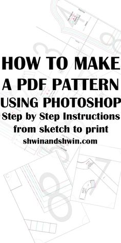 Most recent Absolutely Free sewing hacks step by step Suggestions How to make a PDF Pattern in Photoshop Sewing Hacks, Sewing Tutorials, Sewing Crafts, Sewing Tips, Sewing Art, Pattern Drafting Tutorials, Dress Tutorials, Techniques Couture, Sewing Techniques