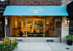 Lemonmade Style & Snips for Kids Haircuts, Oak Park Chicago Illinois Salon Brand Identity, Store Front Signage and Logo Design