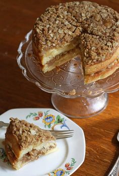 Apple and Pear Coffee Cake with Brioche