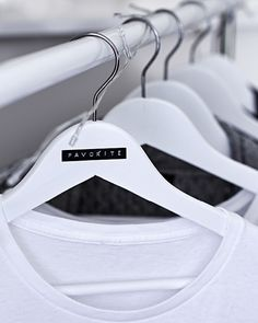 Customize hangers with homemade labels for your favorite clothes