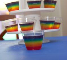 Rainbow Jello for Rainbow Party #rainbowparty #jello Having a Rainbow themed Wedding? Rainbow Wedding Ideas and Inspirations