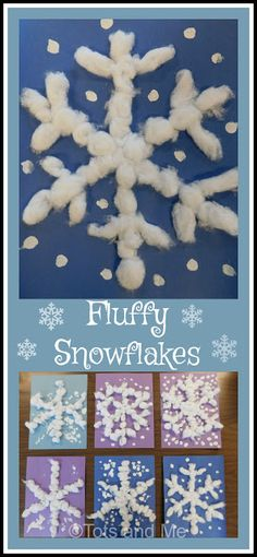 Winter ts and Me. Growing Up Together: Littles Learning Link Up: January Fluffy Snowflakes 4 Yr Old Crafts, Bible Crafts For Kids, Winter Crafts For Kids, Crafts For Girls, Winter Fun, Winter Theme, Spring Crafts, Arts And Crafts, Kids Bible