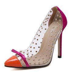 Feminino Rivets High Heels - InspirationalFashionsLLC