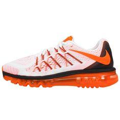 new style c7dea 05f8c Nike Air Max 2015 Mens Running Shoes White Total Orange-Black 698902-108