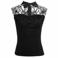Women Fashion Sexy Hollow Crochet Lace Patchwork Sleeveless Backless Slim Tank Tops