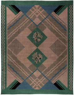 Also included in the Vintage rugs category are Moroccan rugs which have tribal patterns that are graphic and geometric. Moroccan rug motifs influenced designers such as Ivan Da Silva Bruhn and Vladimir Boberman.