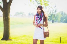 sole society lace up sandals, sole society outfit, sole society sales, sole society scarf, sole society promo code, american flag blanket scarf, white denim skirt, white distressed jean skirt, cognac crossbody satchel, rose gold aviators, rose gold mirror sunglasses, fourth of july outfit inspiration, fourth of july outfit inspo, july fourth outfit, july fourth fashion // grace wainwright a southern drawl