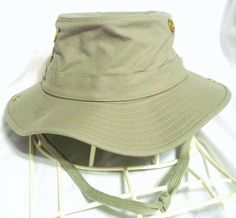 2c8fe614c70d7 THE TILLEY HAT ENDURABLES T3 WANDERER SAFARI DUCK OLIVE sz 7 SNAP SIDE WIDE  BRIM