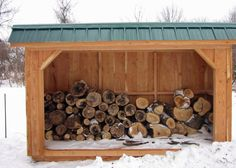 Fred's Sheds LLC - Custom Amish Sheds and Other Outdoor Structures! - Firewood Storage