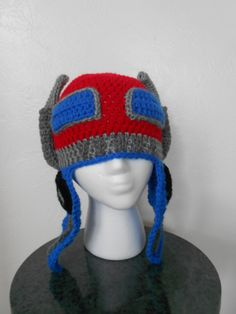 Crochet Pattern For Optimus Prime Hat : 1000+ images about Transformers on Pinterest ...