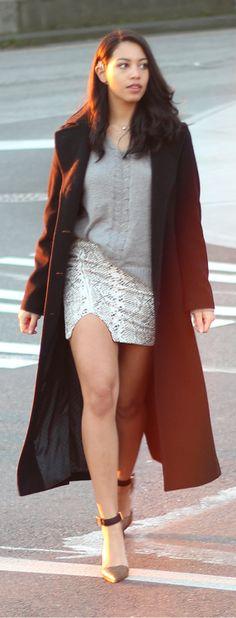 short skirt long jacket | Short skirt...long jacket | Pinterest ...