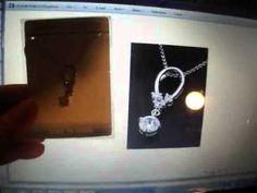 18K WGP Rhinestone Eternity Forever Necklace $5