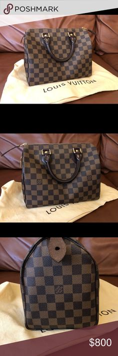bc65b308f9 Louis Vuitton Speedy 25 Damier Ebene This bag is in AMAZING condition.  There are no