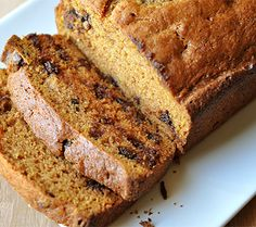 I am basically obsessed with pumpkin flavor things- and how could it get any better than by pairing it with chocolate of course!!!!  Chocolate chip Pumpkin Bread:  2 cups  sugar  2 cups  canned pumpkin  ½ cup  canola oil  ½ cup  fat-free vanilla pudding  4...