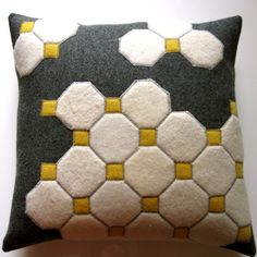 Fantastic pillow cover made from felted jumpers