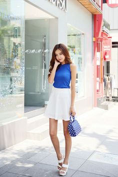 Bend Flare Skirt | Korean Fashion