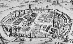Hameln nach einem Kupferstich aus dem Jahr 1642
