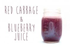 Healthy Juice Recipes: Red Cabbage & Blueberry Juice