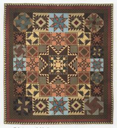 """- Civil War Tribute Quilt Pattern – A Rare and Out-of-Print Quilt Pattern – 93"""" x 102"""" Quilt - The Civil War Tribute Quilt Pattern by Judy Rothermel form Homestead Hearth for Marcus Brothers Fabrics."""