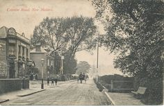 The original Century Royal Oak Hotel and accompanying townhouses on the now Coombe Road leading up to Traps Lane. It is a smaller footprint than the Century version that is still standing. It is assumed the new building was built around it. Back In Time, Back In The Day, Kingston Upon Thames, Town House, Vintage London, Still Standing, Royal Oak, Surrey, Old Pictures