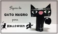 Cómo hacer una figura de gato negro para Halloween - https://www.manualidadeson.com/una-figura-gato-negro-halloween.html