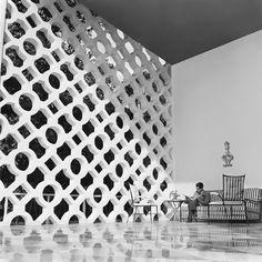 magnificent cobogós at Casa Walther Moreira Salles (1951) by Olavo Redig de Campos, Rio de Janeiro, Brazil