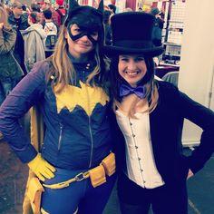 New 52 Batgirl by Riddler Batman Cosplay and Zatanna Cosplay