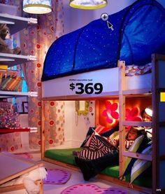 reading nook under kura loft bed